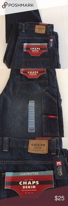 Chaps Men's Carpenter Size 34/30 New never used Men's Chaps Carpenter Denim Size 34/30 Chaps Jeans
