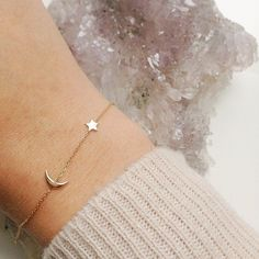Be the moon to my stars / tiny constellation bracelet