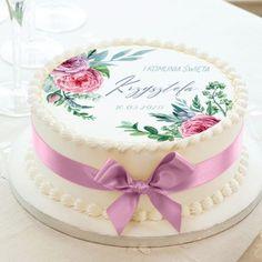 Opłatek na tort z okazji I Komunii Świętej Waszego dziecka będzie wyglądać zjawiskowo.#opłateknatort #tort #komuniaŚwięta #komunia #dekoracjakomunijna #tortkomunijny Cute Birthday Cakes, Vanilla Cake, Wedding Cakes, Arts And Crafts, Desserts, Meringue, Food, Baby, Candy