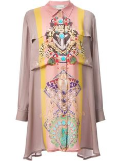 Shop Mary Katrantzou 'Knipi' blouse dress in Feathers from the world's best independent boutiques at farfetch.com. Over 1000 designers from 60 boutiques in one website.