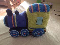 Crochet train todler toy