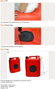 awesome DIY gas can speakers