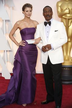 Red Carpet Watch: Oscars 2015 - NYTimes.com  Eddie Murphy and Paige Butcher