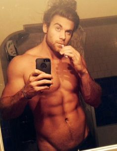 Brock O'Hurn.....and he's man enough to throw his hair up in a bun!! Sigh
