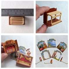 open_house_miniatures_dolls_house_wooden_theatre__eBay