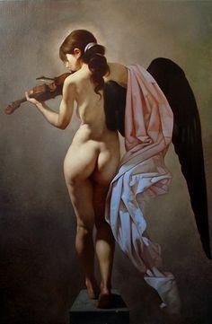 Roberto Ferri - CANTO SILENTE olio su tela 100 x 70 cm  2012