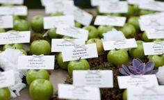 Green apple escort card