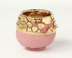 goodchina:   Pink-slipped gold Kairagi Shino bowl - Takuro Kuwata - Salon 94