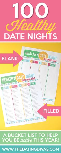 This printable date night bucket list will make being healthy with my spouse so easy this year! www.TheDatingDivas.com
