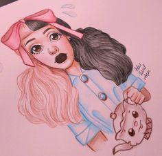 Beautiful Drawings, Cute Drawings, Melanie Martinez Drawings, Fire Drill, Crybaby, Crazy People, Art Sketches, Art Inspo, Fan Art