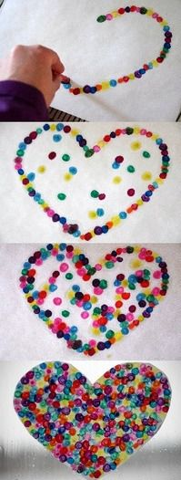 Learn how to melt crayons into a cute heart art project with this quick and easy tutorial for kids.