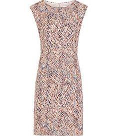 Ashe Pink Printed Dress - REISS