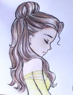 Here s how to draw Disney Princess Belle s hair! - drawing by DebbyArts… 7568eaf755
