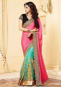 Pink Color Chiffon Saree - Rs. 2625.00
