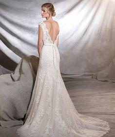 ORIA - Vestido de novia clásico de talle bajo   Pronovias