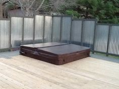 Galvanized Roof On Pinterest Privacy Panels Hot Tubs