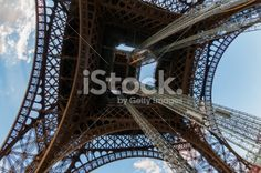 Under the Eiffel Tower and Looking Up Royalty Free Stock Photo
