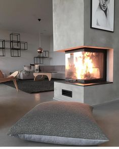 Most up-to-date Pictures Gas Fireplace wall Style The next wind storm out of doors may be frightful, your open fireplace can be so beautiful! You may well be lo. Fireplace Console, Home Fireplace, Modern Fireplace, Fireplace Design, Cottage Fireplace, Fireplace Ideas, Console Table, Home Living Room, Living Room Designs