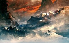 At top of a mountain ridge wallpapers and images wallpapers