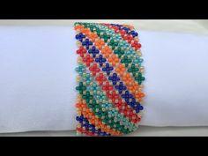 Bead Loom Bracelets, Beaded Bracelet Patterns, Seed Bead Jewelry, Bead Jewellery, Seed Bead Patterns, Beading Patterns, Crochet Flower Tutorial, Lace Necklace, Handmade Beads