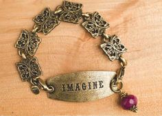 Butterfly Charm Bracelet - Antique Brass - Charm Bracelets CB002B | Lenny And Eva