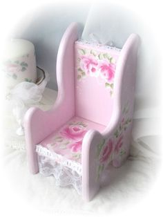 Cottage Sweet DOLL Chair Hand Painted Pink by RoseChicFriends, $24.99