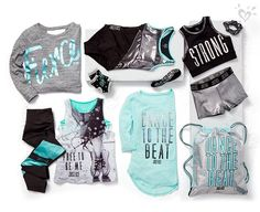 Mackenzie Ziegler for Justice Active. An exclusive collection designed by Mackenzie with Justice. Cheer Outfits, Cute Girl Outfits, Kids Outfits Girls, Sporty Outfits, Athletic Outfits, Dance Outfits, Summer Outfits, Girls Fashion Clothes, Kids Fashion