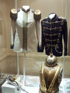 Regimental uniforms belonging to Tsar Nicholas II. ( 6th Cuirassiers, 8th Hussars)