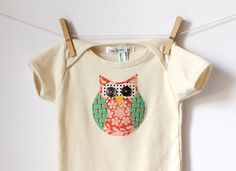 Olivia the Owl  Appliqued American Apparel by LittleBlueFeathers, $16.95
