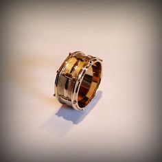 Hey, I found this really awesome Etsy listing at https://www.etsy.com/listing/177159920/14k-snare-drum-ring