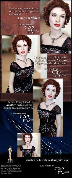 ::||www.ncruz.com::|| TITANIC Kate Winslet as Rose at dinner by Noel Cruz