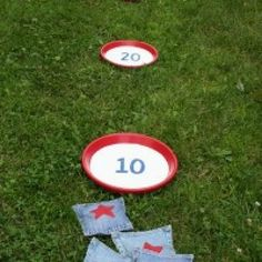 Patriotic Bean Bag Toss {Fourth of July Barbecue}