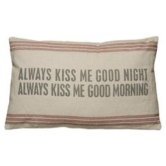 Always Kiss Pillow in Natural