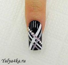 """Пошаговые рисунки на ногтях. Дизайн """"Черный маникюр"""" » Блог о моде, красоте и здоровье"""