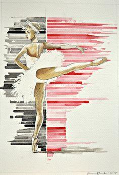 Pavel Kasparek / Precision / watercolor / 8 x 12 inch