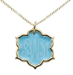 Unique monogram necklace - available in 14 colors, 26 monogram types and multiple fonts! www.jordannjewelry.com