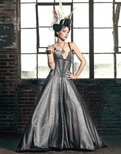 star noir corseted black and pale pink  dress by OblivionClothing, $1846.00