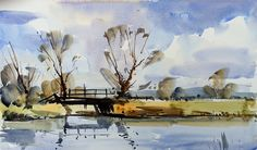 Steve Hall Artist | Artists in Wiltshire | Watercolour Courses Watercolor Landscape Paintings, Watercolor Artists, Watercolor And Ink, Watercolour Painting, Landscape Art, Watercolours, Painting Corner, Mandala Art Lesson, English Artists