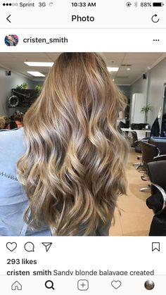 Sandy blonde balayage created using toned with and kept healthy with 💛 Hair Color Balayage, Blonde Balayage, Hair Highlights, Biolage Hair, Blonde Hair Looks, Honey Hair, Light Hair, Gorgeous Hair, Hair Hacks