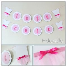 A personal favorite from my Etsy shop https://www.etsy.com/listing/508446963/tutu-cute-baby-onesie-shower-banner
