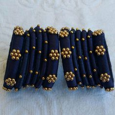 Silk Thread Bangles Design, Silk Thread Necklace, Silk Bangles, Bridal Bangles, Diy Fabric Jewellery, Paper Quilling Jewelry, Thread Jewellery, Jewellery Making, Jewelry Design Drawing