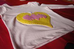 Camiseta niña I Love Batman en Fieltro