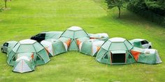 Tent mansion camping. that would be awesome lol