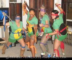 Easy Adult Ninja Turtle Costumes aka TMNT Halloween Costumes 2014, Homemade Halloween Costumes, Easy Costumes, Group Costumes, Fall Halloween, Halloween Party, Adult Halloween, Halloween Ideas, Costume Ideas