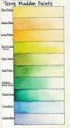 Color Chart Page 1