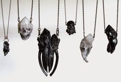 Seriously Ruined: Crystal Ossuary I : Jewelry Collection by floridxfauna #jewelry #dark #gothic