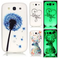Luminous Soft TPU Cover for Samsung Galaxy S3 i9300 S 3 Neo i9301 Duos i9300i Ultra-thin Fluorescence Silicone Back Phone Cases
