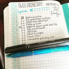 Day page, bullet journal :)