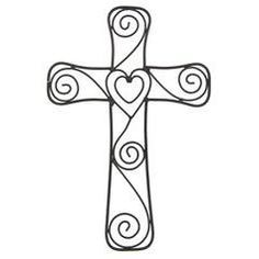 Hearts & Swirls Wall Cross