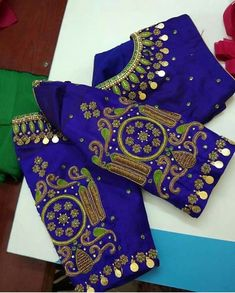 Hd for blouse New Blouse Designs, Pattu Saree Blouse Designs, Stylish Blouse Design, Bridal Blouse Designs, Maggam Work Designs, Magam Work Blouses, Designer Blouse Patterns, Collor, Sumo